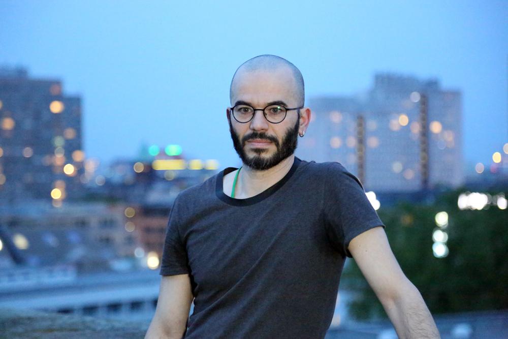 AArtist Said Baalbaki auf der Dachterasse des AA, Foto: Holger Biermann