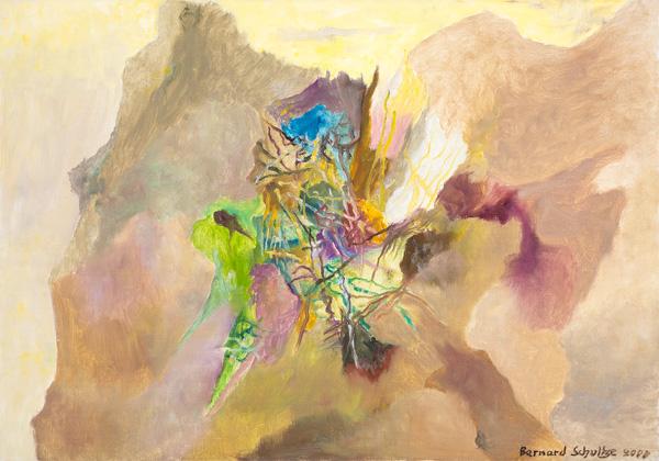 Bernard Schultze: Herzbild 2000, Öl auf Leinwand, 95 x 105 cm Courtesy: Zellermayer Galerie