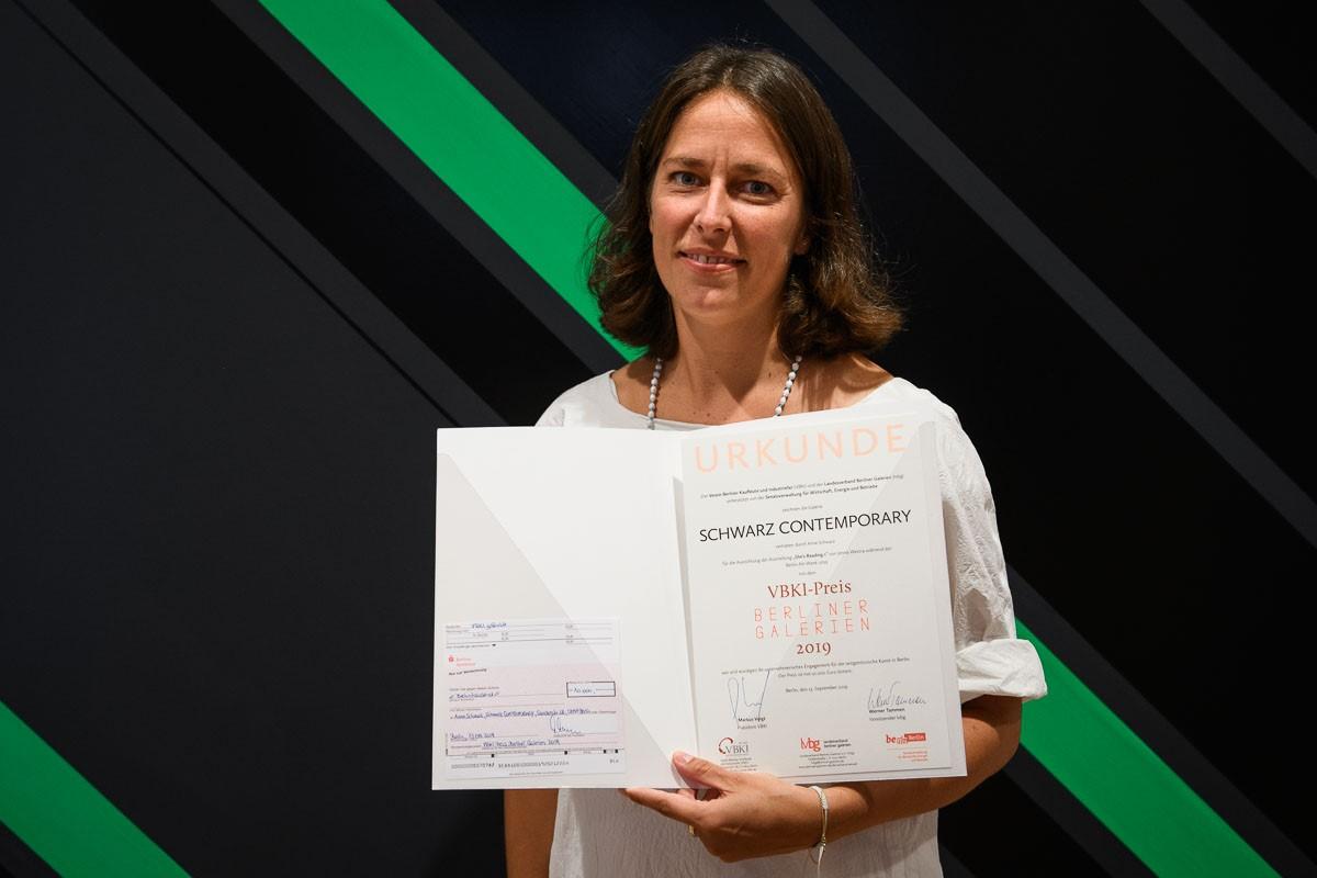 Anne Schwarz, SCHWARZ CONTEMPORY, Preisträgerin des VBKI-Preises BERLINER GALERIEN 2019, Fotocredit: VBKI/ Phil Dera